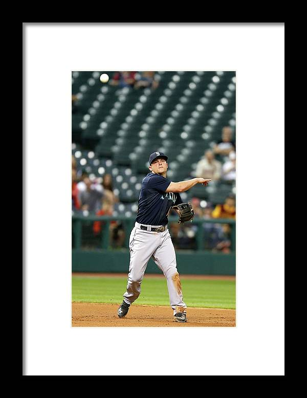 People Framed Print featuring the photograph Nick Swisher and Kyle Seager by Kirk Irwin