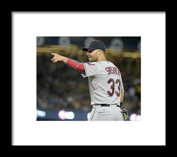 American League Baseball Framed Print featuring the photograph Nick Swisher by Harry How
