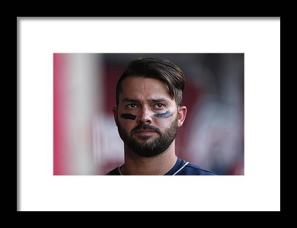 American League Baseball Framed Print featuring the photograph Nick Swisher by Jeff Gross