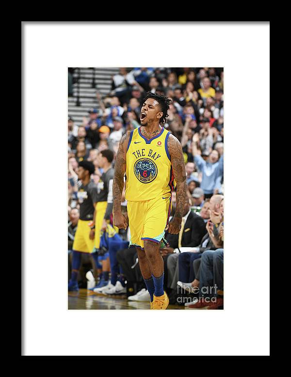 Nba Pro Basketball Framed Print featuring the photograph Nick Young by Garrett Ellwood