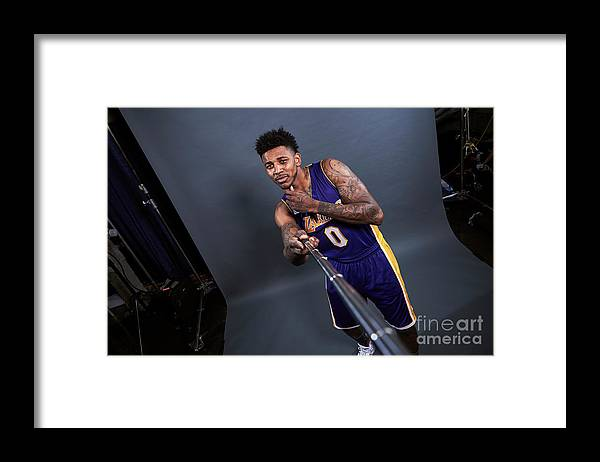 Event Framed Print featuring the photograph Nick Young by Jennifer Pottheiser
