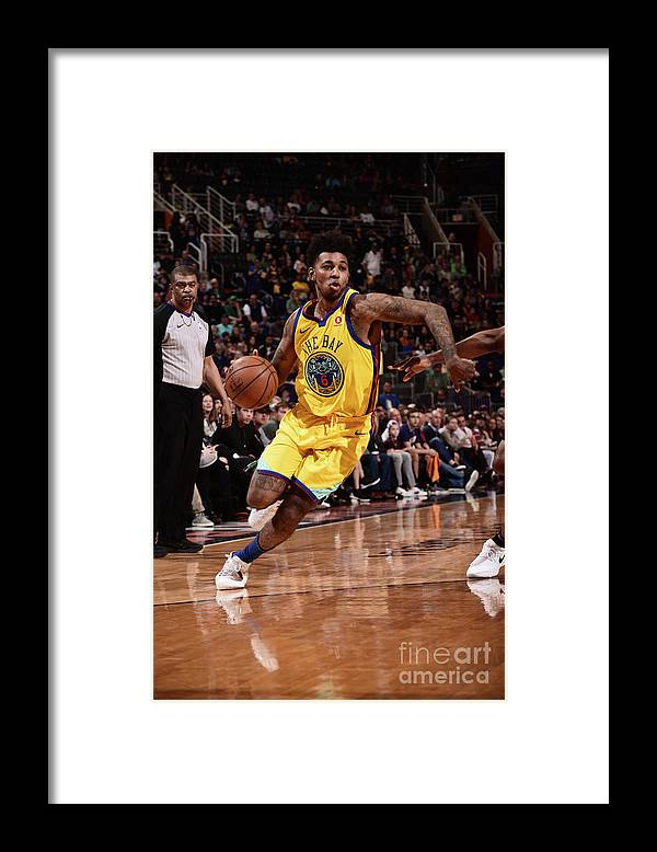 Sports Ball Framed Print featuring the photograph Nick Young by Michael Gonzales