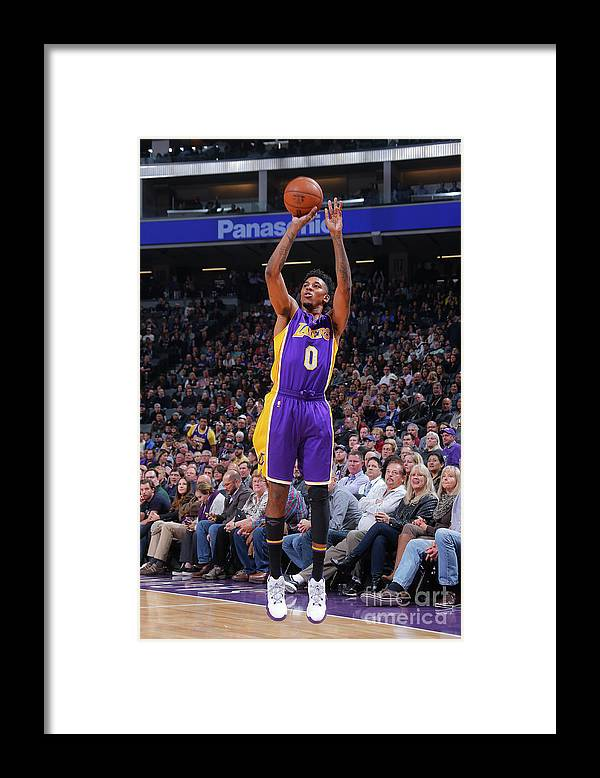 Nba Pro Basketball Framed Print featuring the photograph Nick Young by Rocky Widner