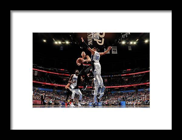 Nba Pro Basketball Framed Print featuring the photograph Nik Stauskas by Fernando Medina