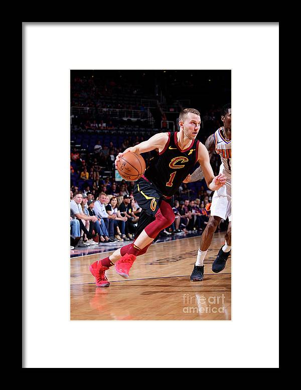 Nba Pro Basketball Framed Print featuring the photograph Nik Stauskas by Michael Gonzales