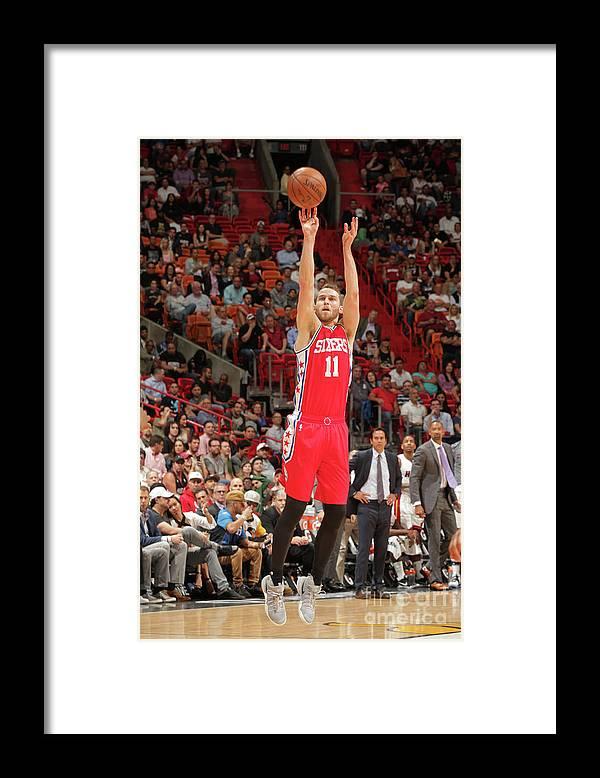 Nba Pro Basketball Framed Print featuring the photograph Nik Stauskas by Oscar Baldizon