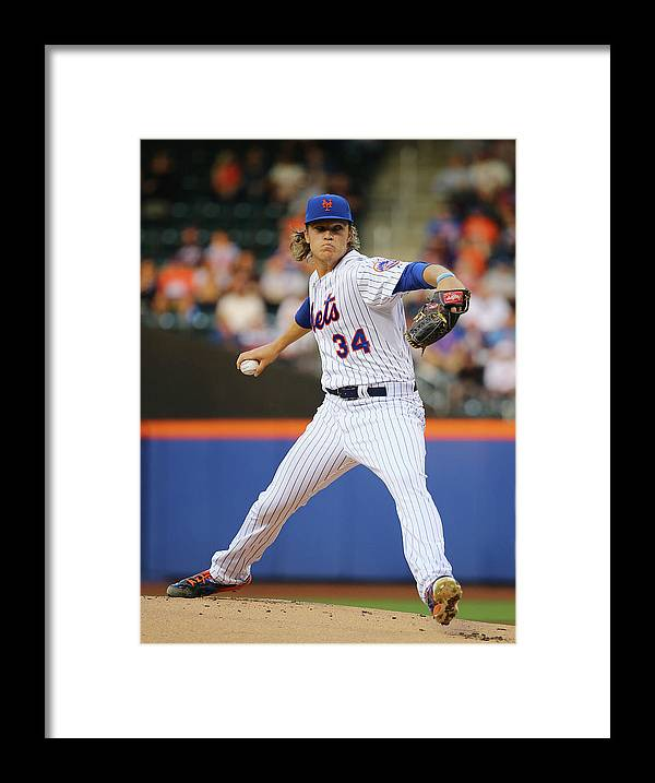People Framed Print featuring the photograph Noah Syndergaard by Al Bello