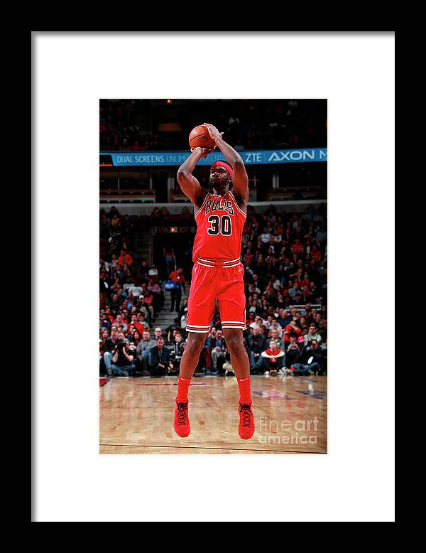 Nba Pro Basketball Framed Print featuring the photograph Noah Vonleh by Jeff Haynes
