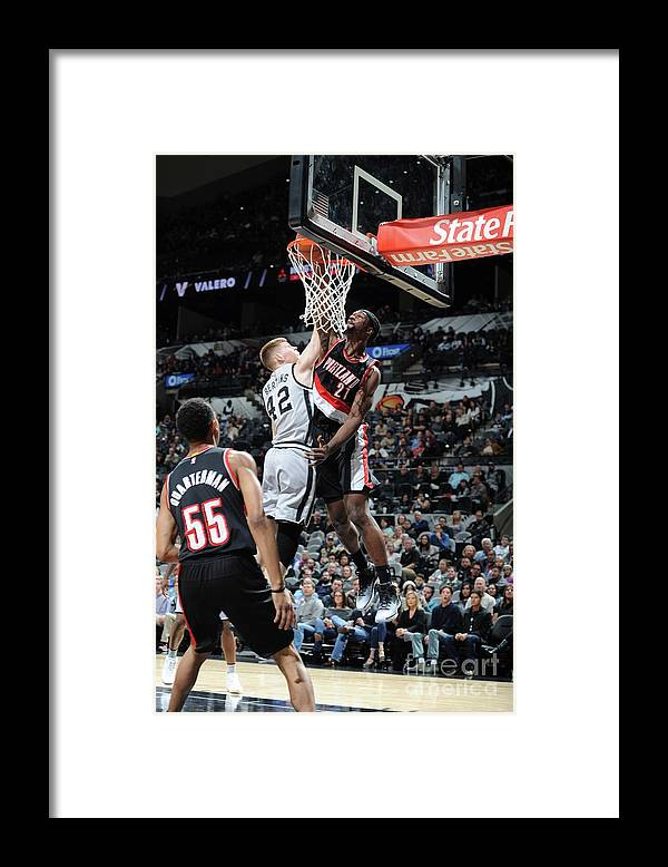 Nba Pro Basketball Framed Print featuring the photograph Noah Vonleh by Mark Sobhani