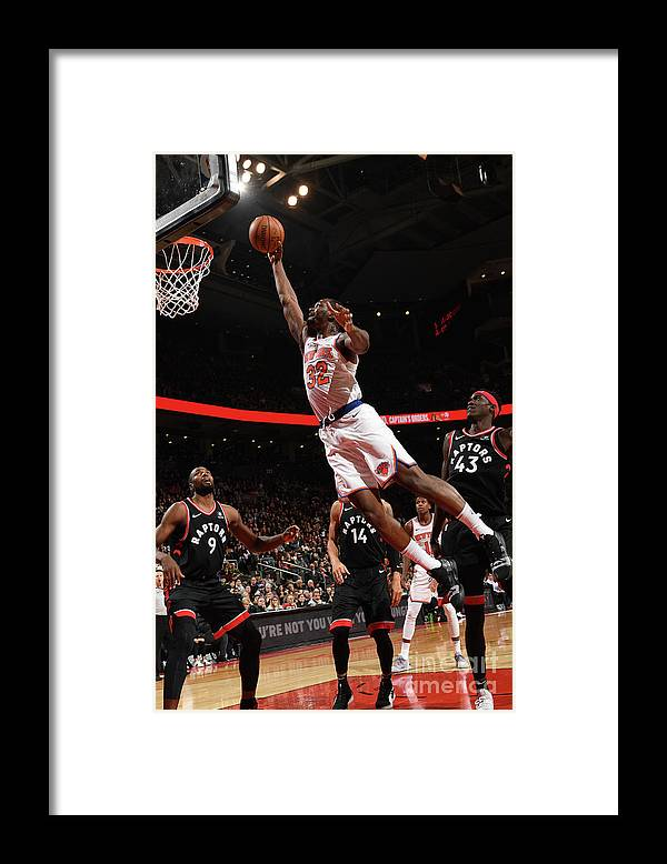 Nba Pro Basketball Framed Print featuring the photograph Noah Vonleh by Ron Turenne