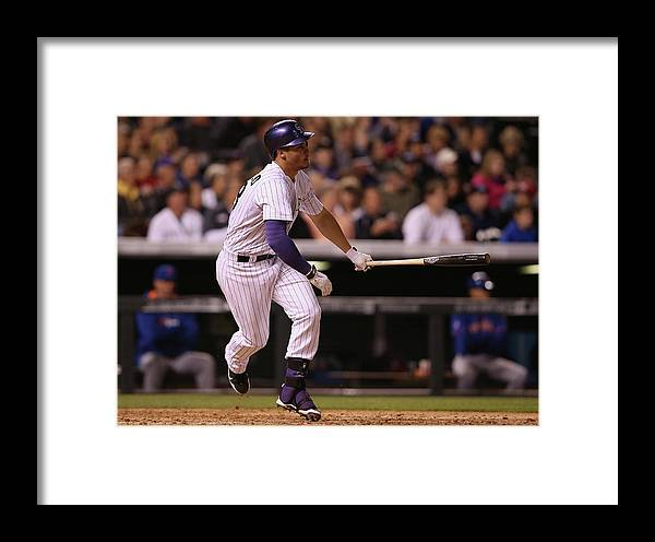 National League Baseball Framed Print featuring the photograph Nolan Arenado by Doug Pensinger