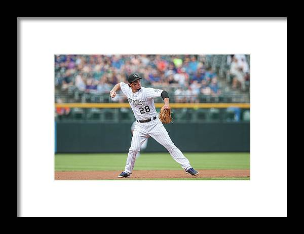 Ball Framed Print featuring the photograph Nolan Arenado by Dustin Bradford
