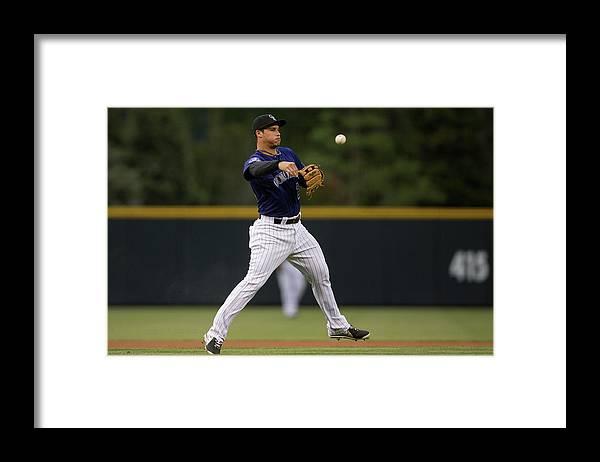 National League Baseball Framed Print featuring the photograph Nolan Arenado by Justin Edmonds