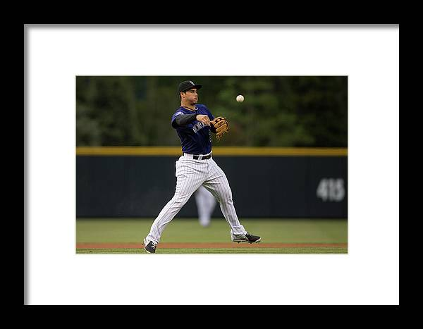 National League Baseball Framed Print featuring the photograph Nolan Arenado by Justin Edmonds
