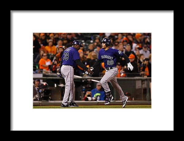 San Francisco Framed Print featuring the photograph Nolan Arenado by Lachlan Cunningham