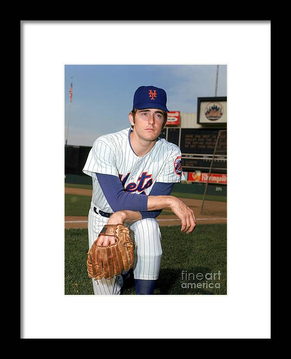 American League Baseball Framed Print featuring the photograph Nolan Ryan by Louis Requena