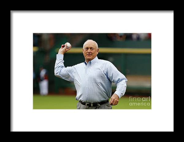 People Framed Print featuring the photograph Nolan Ryan by Scott Halleran