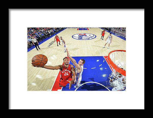 Nba Pro Basketball Framed Print featuring the photograph Norman Powell and Nik Stauskas by Jesse D. Garrabrant