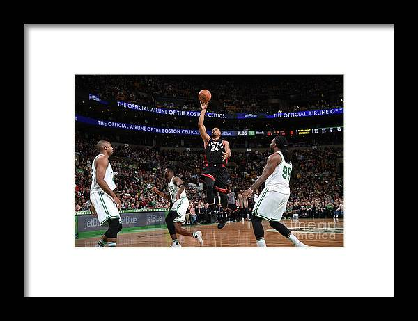 Nba Pro Basketball Framed Print featuring the photograph Norman Powell by Brian Babineau