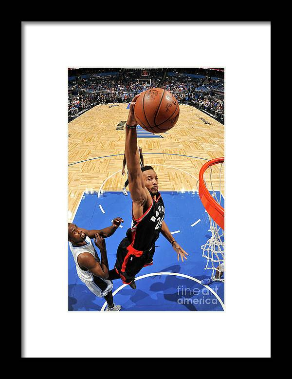 Nba Pro Basketball Framed Print featuring the photograph Norman Powell by Fernando Medina