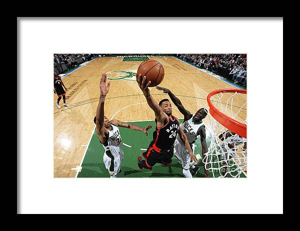 Playoffs Framed Print featuring the photograph Norman Powell by Gary Dineen