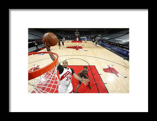 Nba Pro Basketball Framed Print featuring the photograph Norman Powell by Jeff Haynes