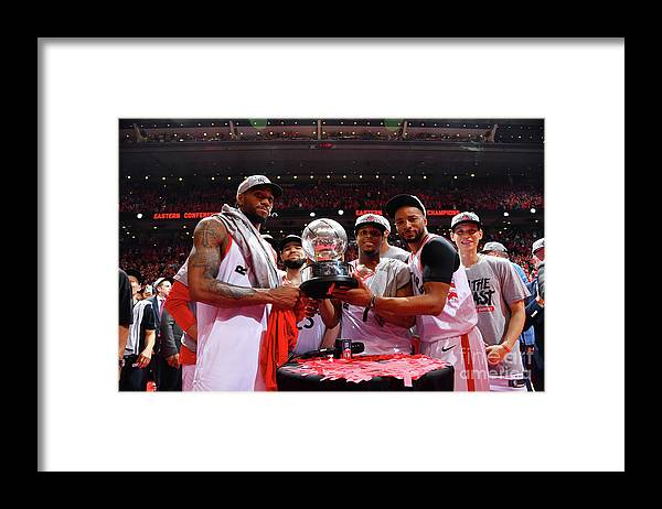 Nba Pro Basketball Framed Print featuring the photograph Norman Powell, Kawhi Leonard, and Kyle Lowry by Jesse D. Garrabrant