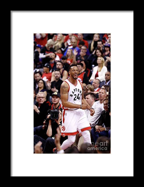 Playoffs Framed Print featuring the photograph Norman Powell by Mark Blinch