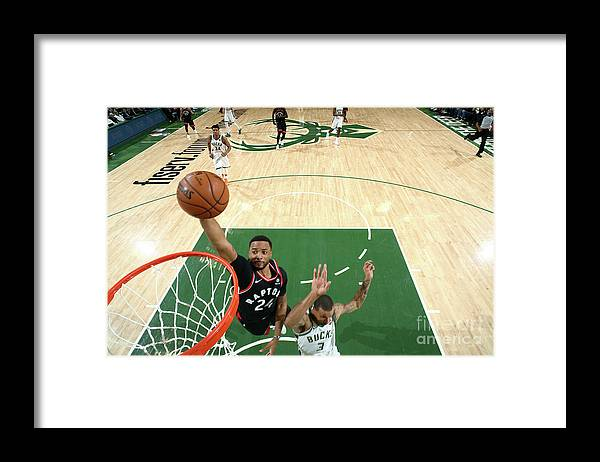 Game Two Framed Print featuring the photograph Norman Powell by Nathaniel S. Butler