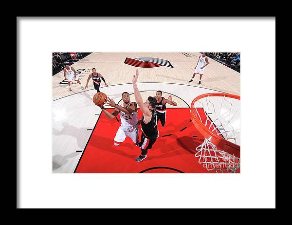 Nba Pro Basketball Framed Print featuring the photograph Norman Powell by Sam Forencich