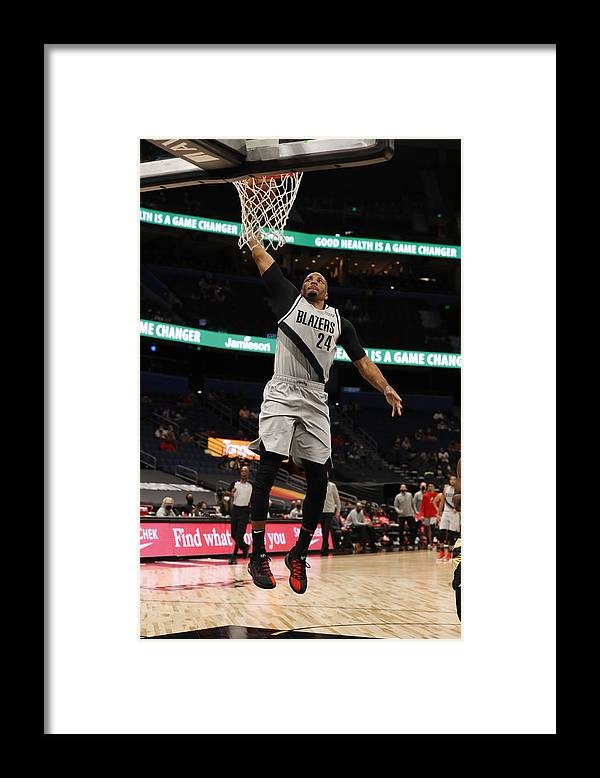 Nba Pro Basketball Framed Print featuring the photograph Norman Powell by Scott Audette