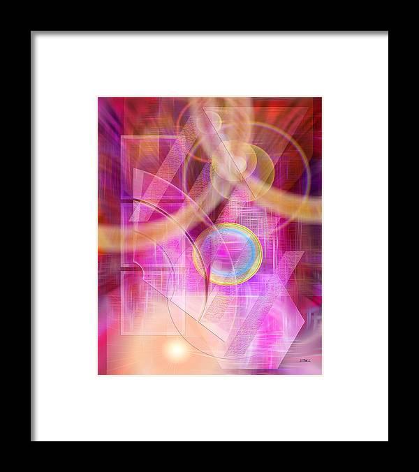 Northern Lights Framed Print featuring the digital art Northern Lights by John Robert Beck