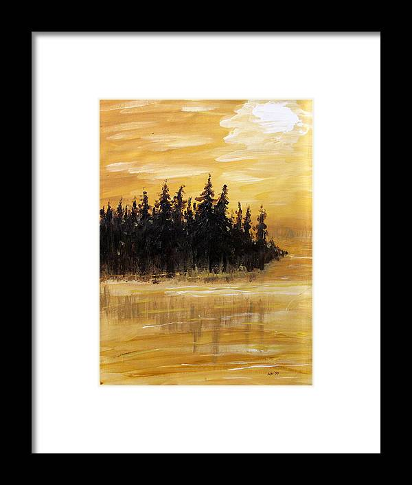 Northern Ontario Framed Print featuring the painting Northern Ontario One by Ian MacDonald