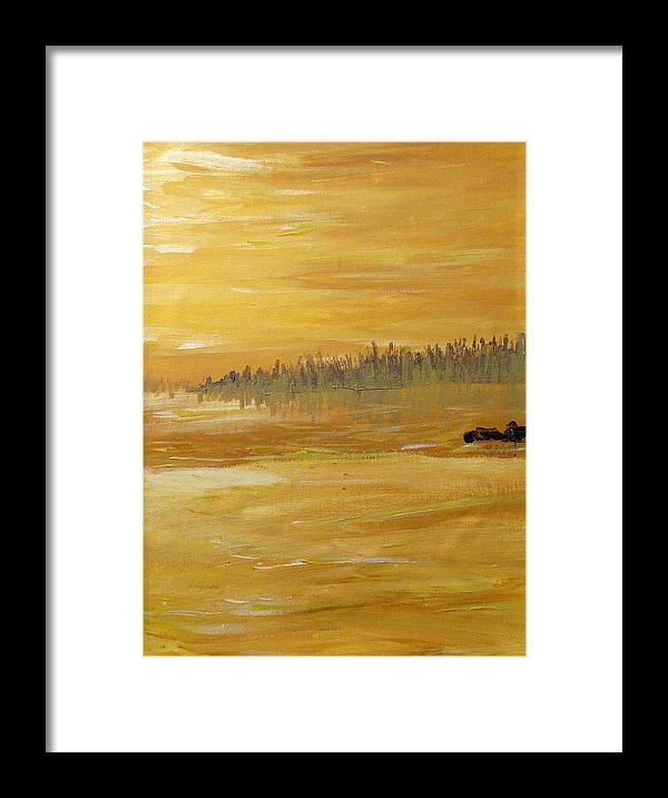Northern Ontario Framed Print featuring the painting Northern Ontario Two by Ian MacDonald