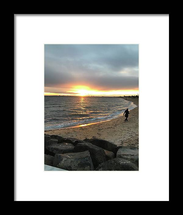 Beach Framed Print featuring the photograph Nowhere to run by Sandy Abbott