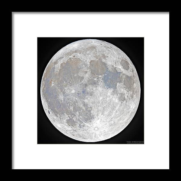 Fullmoon Framed Print featuring the photograph October 2020 Halloween Full/Blue Moon by Prabhu Astrophotography