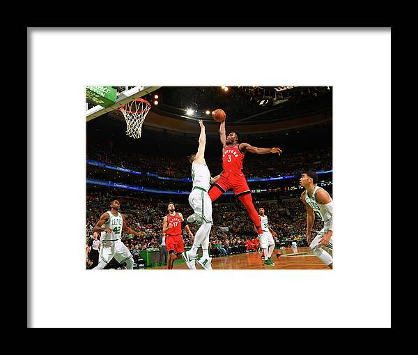 Nba Pro Basketball Framed Print featuring the photograph Og Anunoby by Jesse D. Garrabrant
