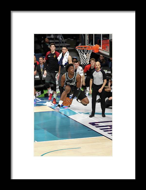 Nba Pro Basketball Framed Print featuring the photograph Og Anunoby by Kent Smith