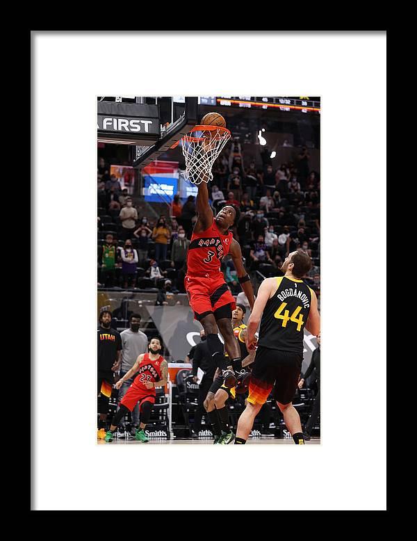 Nba Pro Basketball Framed Print featuring the photograph Og Anunoby by Melissa Majchrzak