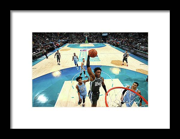 Nba Pro Basketball Framed Print featuring the photograph Og Anunoby by Nathaniel S. Butler
