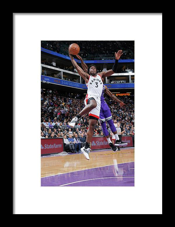 Nba Pro Basketball Framed Print featuring the photograph Og Anunoby by Rocky Widner