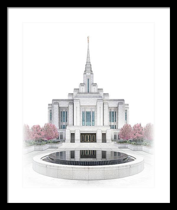 Ogden Framed Print featuring the digital art Ogden Temple - Celestial Series by Brent Borup