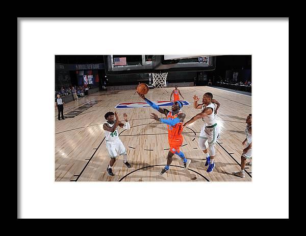 Nba Pro Basketball Framed Print featuring the photograph Oklahoma City Thunder v Boston Celtics by David Sherman