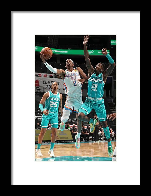 Nba Pro Basketball Framed Print featuring the photograph Oklahoma City Thunder v Charlotte Hornets by Kent Smith