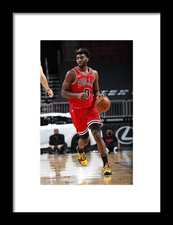 Nba Pro Basketball Framed Print featuring the photograph Oklahoma City Thunder v Chicago Bulls by Jeff Haynes
