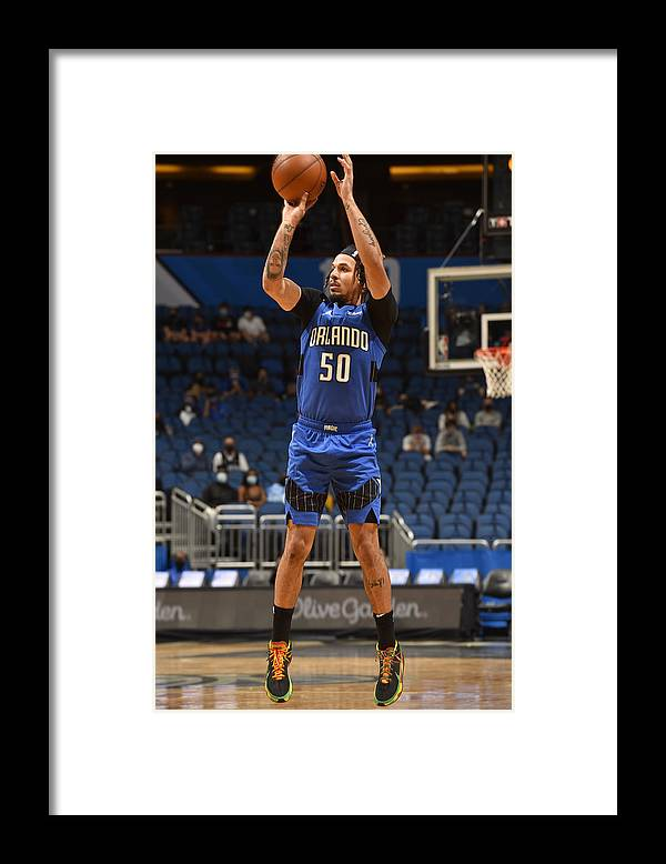 Nba Pro Basketball Framed Print featuring the photograph Oklahoma City Thunder v Orlando Magic by Gary Bassing