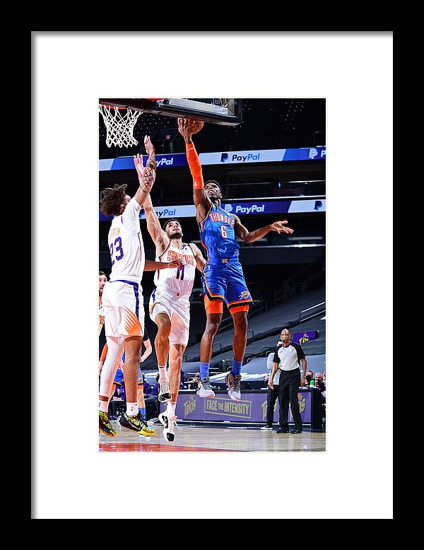 Nba Pro Basketball Framed Print featuring the photograph Oklahoma City Thunder v Phoenix Suns by Michael Gonzales