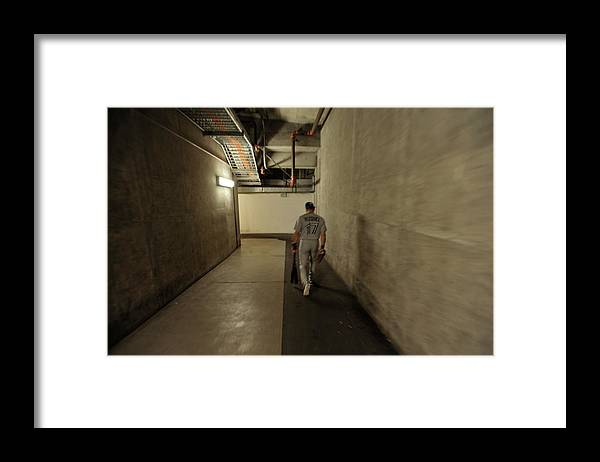 California Framed Print featuring the photograph Omar Vizquel by Stephen Albanese