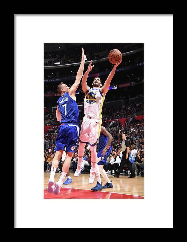 Nba Pro Basketball Framed Print featuring the photograph Omri Casspi by Andrew D. Bernstein