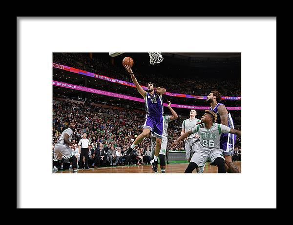 Nba Pro Basketball Framed Print featuring the photograph Omri Casspi by Brian Babineau
